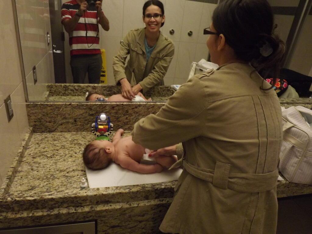 Viajar com bebê: fraldário do Aeroporto de Atlanta