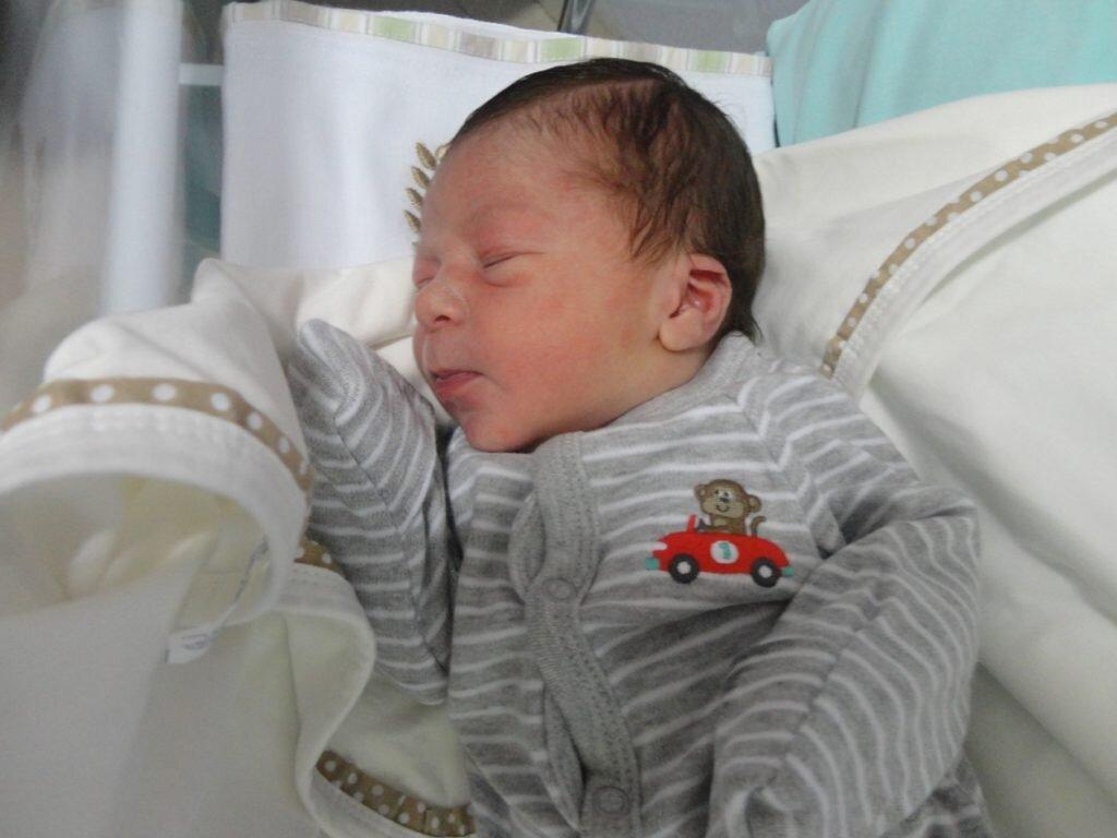 Estêvão nasceu através de parto natural humanizado