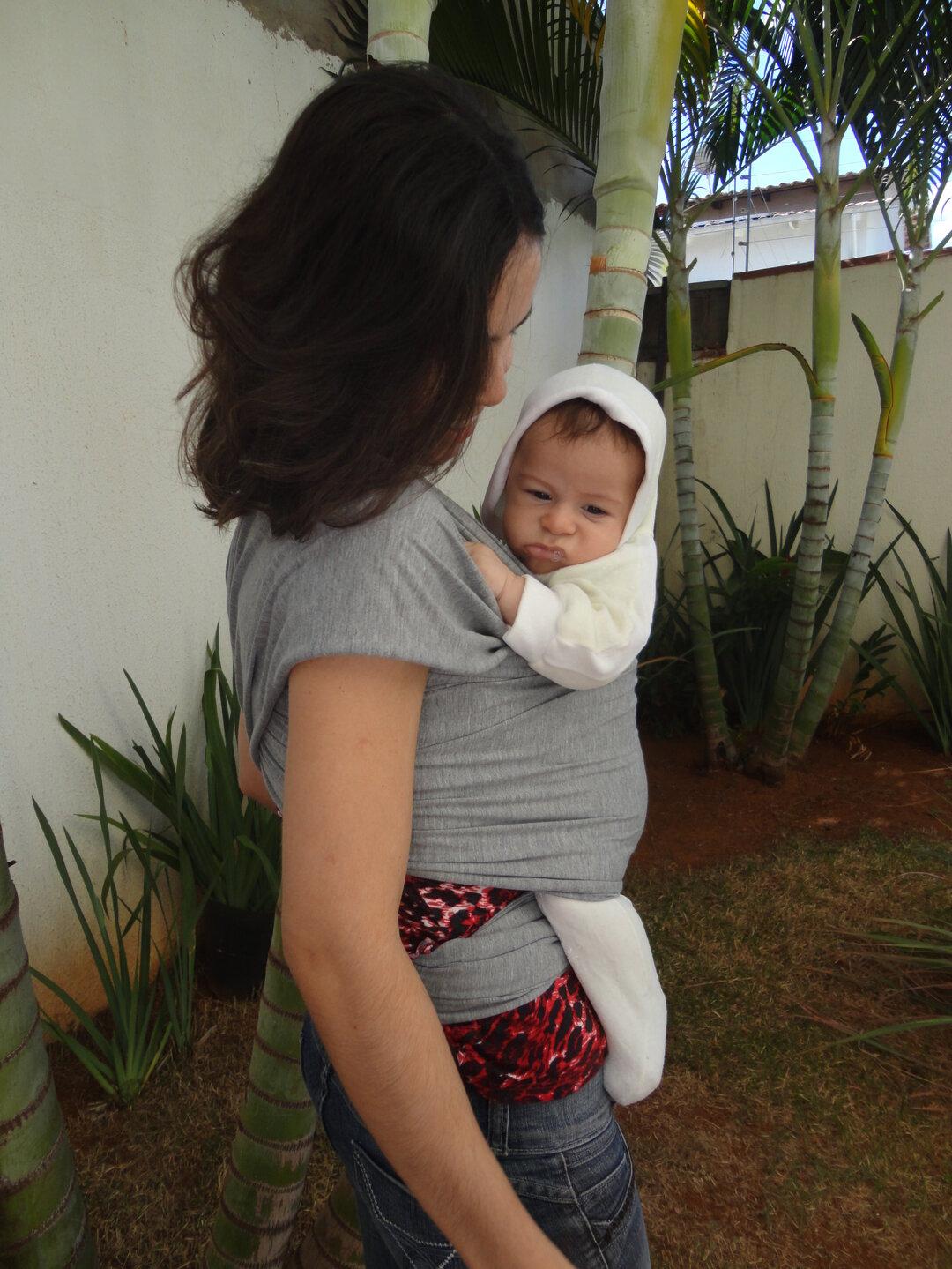 Wrap sling - bebê 3 meses