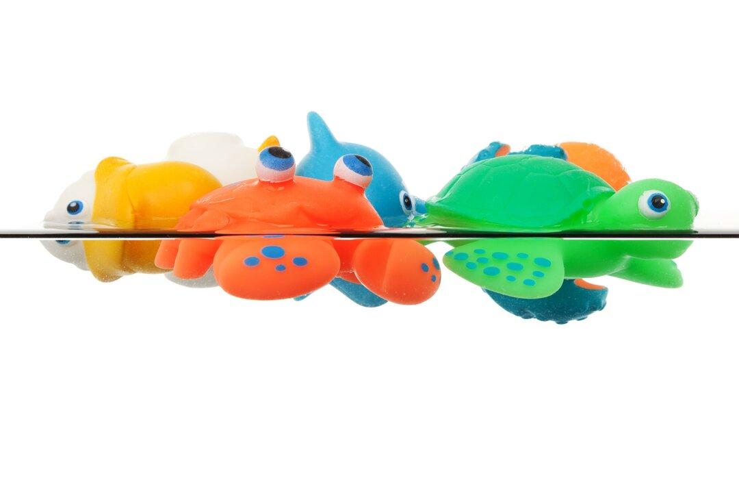 banho do bebê - brinquedos