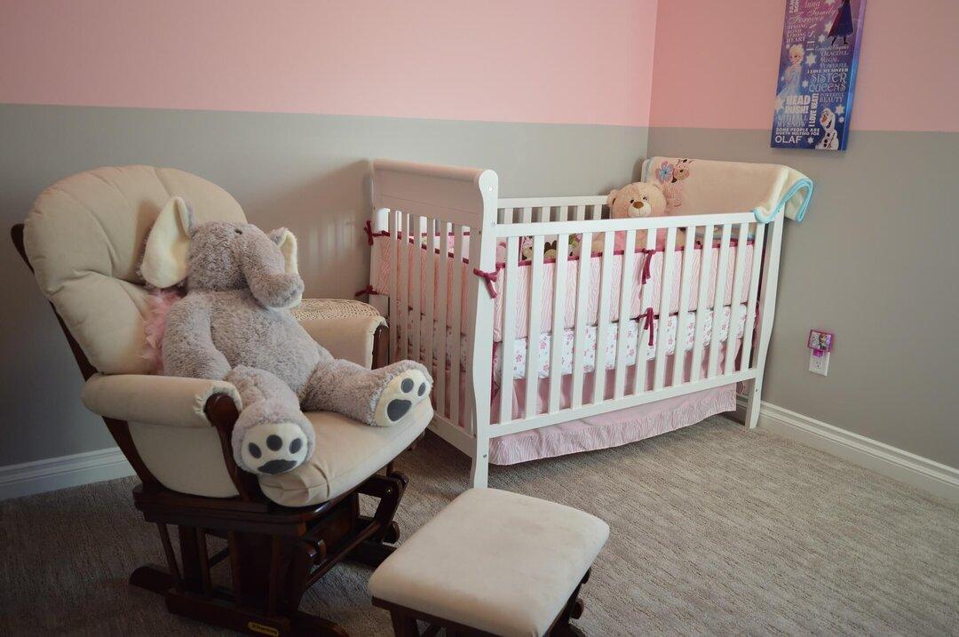 Layout de quarto de bebê