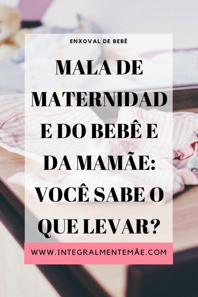 Mala de maternidade do bebê e da mamãe