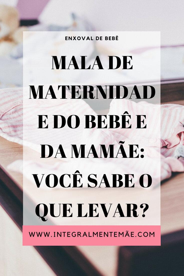 d8879ce5a Bolsa da maternidade do bebê e da mamãe: Você sabe o que levar?
