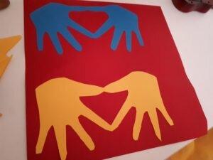 Dia das mães: Cartão coração (vermelho)