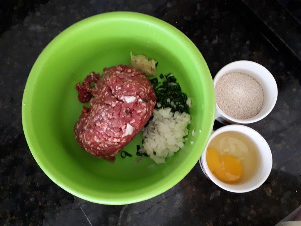 Hambúrguer caseiro saudável - ingredientes