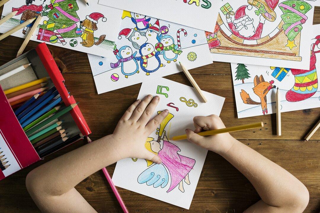 O que fazer nas férias escolares em casa - colorir