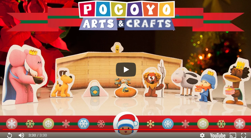 Comemorar o Natal com as crianças com atividades DIY – presépio