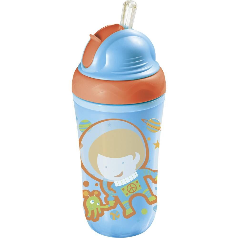 Utensílios na alimentação do bebê – garrafinha Térmica com canudo MULTIKIDS