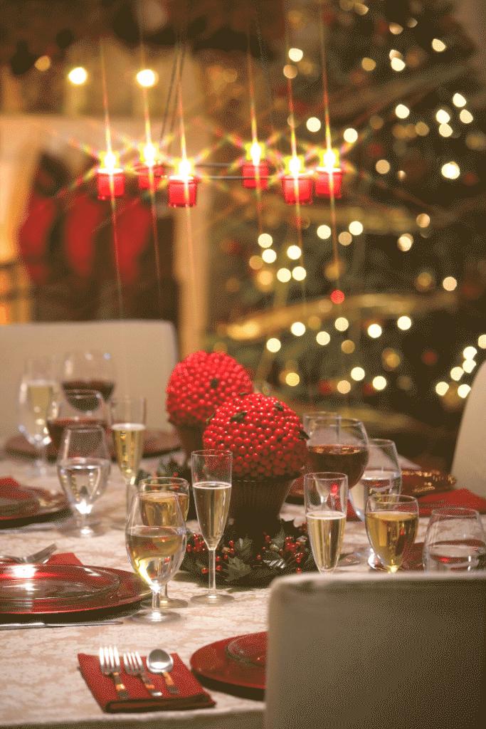 Decoração da ceia de natal – mesas 6