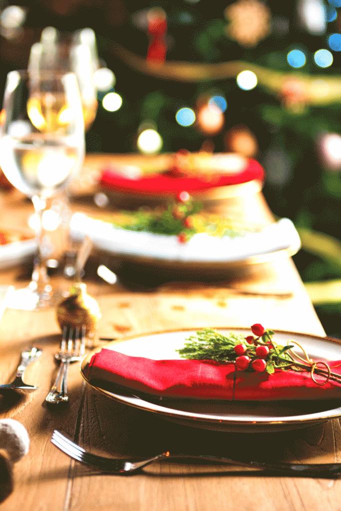 Decoração da ceia de natal – mesas 7