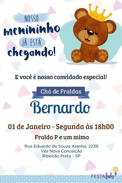 Convite Cha De Bebe Online Gratis