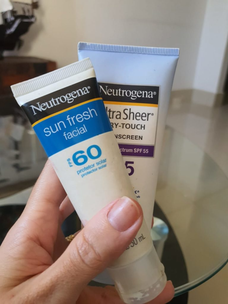 Tratamento com roacutan – protetor solar